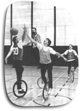 Basketball sur monocycle